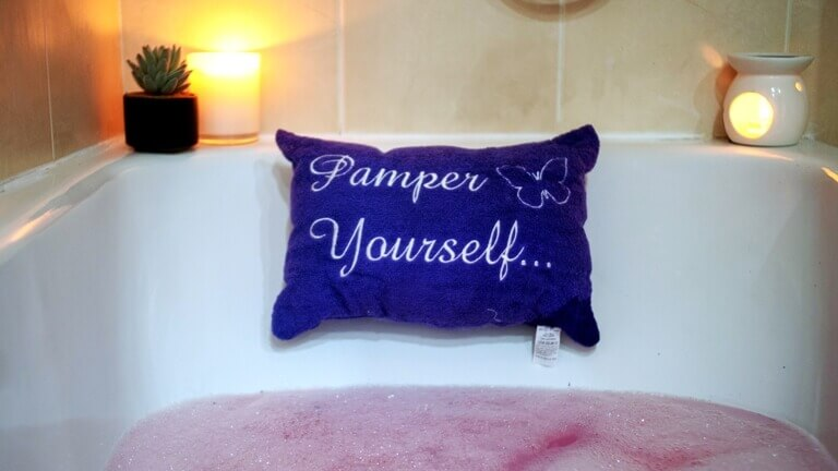Purple Bath Pillow – Pamper Yourself