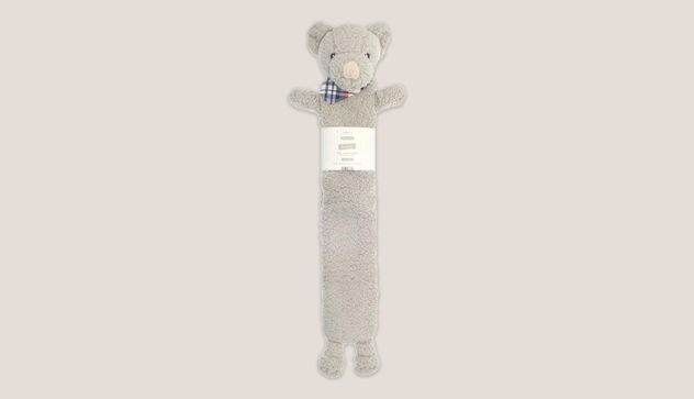 Stone 72cm Long Hot Water Bottle with Sherpa Cover – Teddy Bear Design