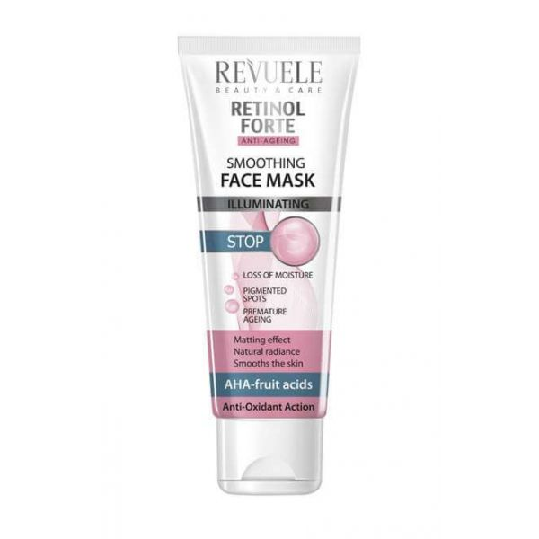 This Retinol face mask helps protect the skin from external factors of the environment and reduces the appearance of pigmented spots.