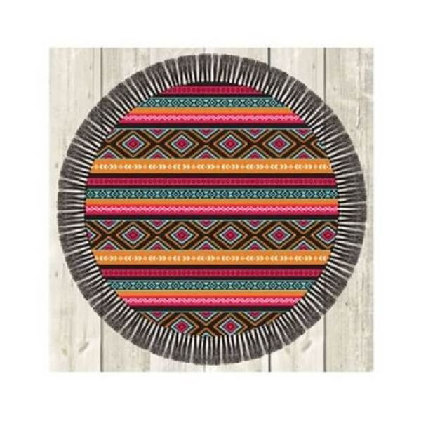 Novelty square beach towel with a lovely trendy design.