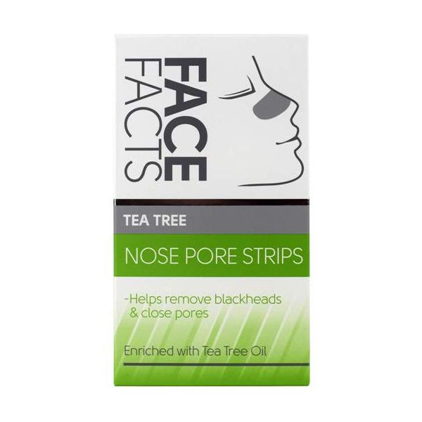 12 tea tree nose strips to remove blackheads and unclog pores.