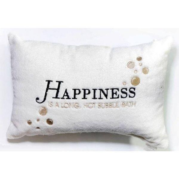 Luxury Bath Pillow White Happiness