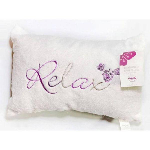 Luxury Bath Pillow White Relax