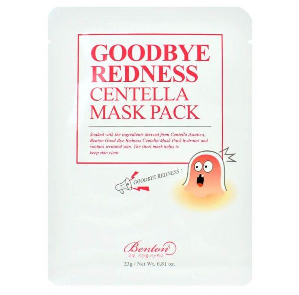 This Benton Goodbye Redness Centella Mask Pack helps to reduce redness and soothe irritated skin.