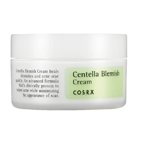 This Cosrx Centella blemish cream is a calming cream that helps to soothe irritated and sensitive areas of the skin.