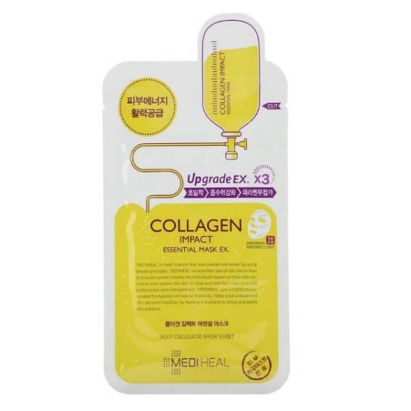 This Mediheal Collagen impact essential mask helps to strengthen skin's water barrier to protect it from skin dryness.