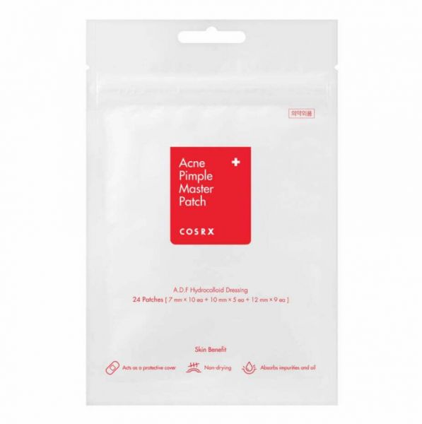 Cosrx Acne Pimple Master Patch is a hydrocolloid type of patch that protects acne and other blemishes from infection.