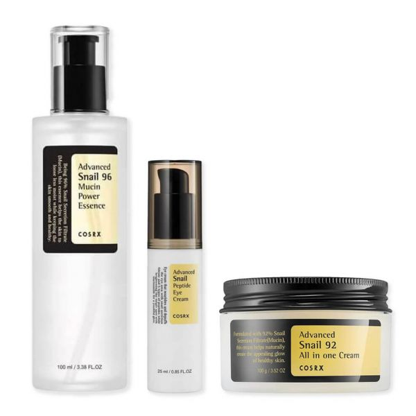 This Cosrx Advanced Snail Skin Repair Set helps to repair skin damage, revitalize and provide skin with intense moisture.