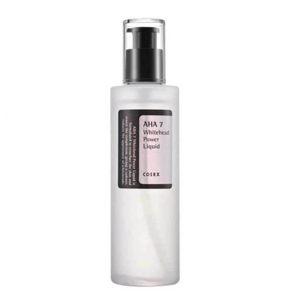 This Cosrx AHA 7 Whitehead Power Liquid, containing AHA and Glycolic acid is perfect for getting rid of whiteheads and sebum.