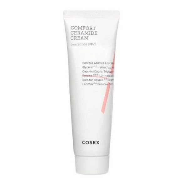 Cosrx balancium comfort ceramide cream is a moisturising cream that protects the skin's barrier and keeps the skin calm.