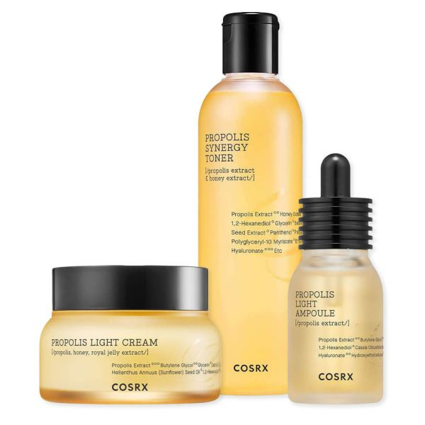 Cosrx Full Fit Propolis nourishing and revitalizing set keeps your skin radiant, deeply hydrated and glowing all day long.