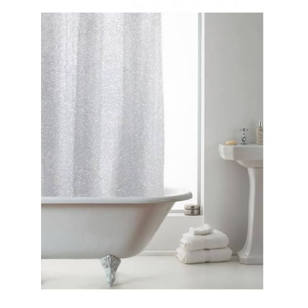 Add some glamour to your bathroom with our stylish and modern glitter shower curtain.