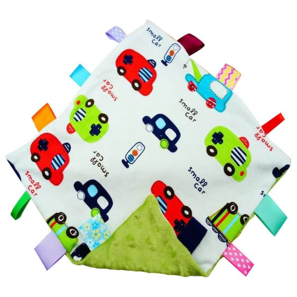 Extra soft and cuddly green cars baby comforter with tags for your little ones.
