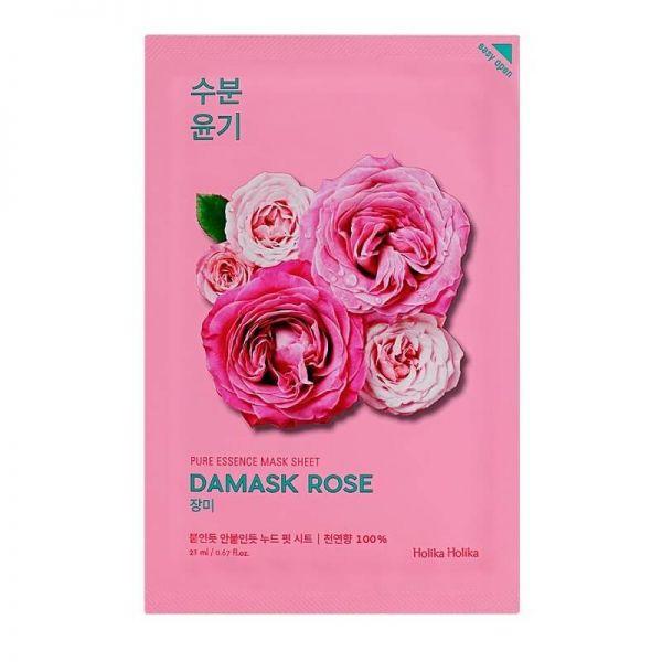 This Holika Holika sheet mask containing damask rose provides abundant fresh moisture to dry skin and keeps the skin texture smooth.