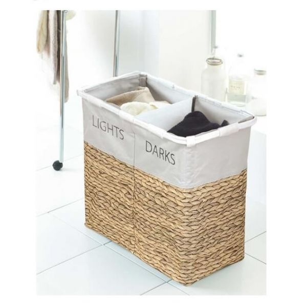 Sort out your dirty clothes in style with our hyacinth design lights and darks large laundry sorter.