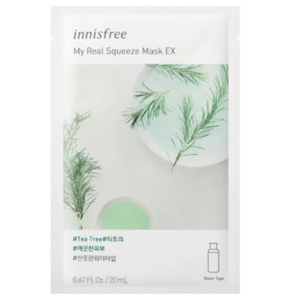 This Korean sheet mask containing tea tree extracts, leaves the skin looking clear.