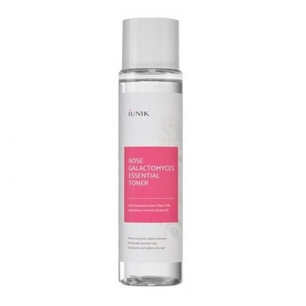 iUNIK Galactomyces rose water toner helps to rebalance and soften the skin and gives it a moisturising and radiance boost.