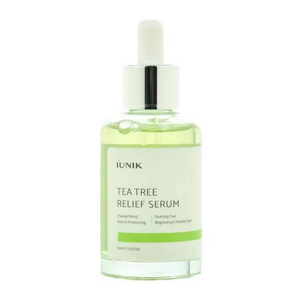 iUNIK tea tree facial serum is a dual functional serum that leaves the skin feeling smooth and clear.