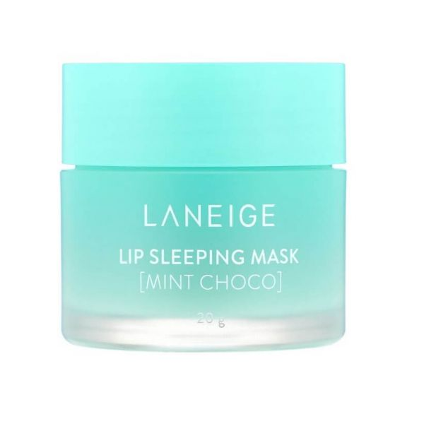 This Laneige lip sleeping mask enriched with mint choco gently melts away dead skin on your lips overnight.
