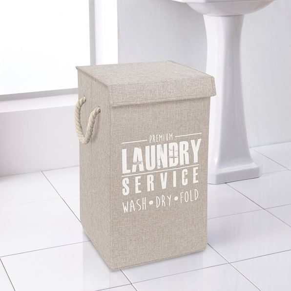 This natural large laundry hamper is ideal for storing those dirty clothes.