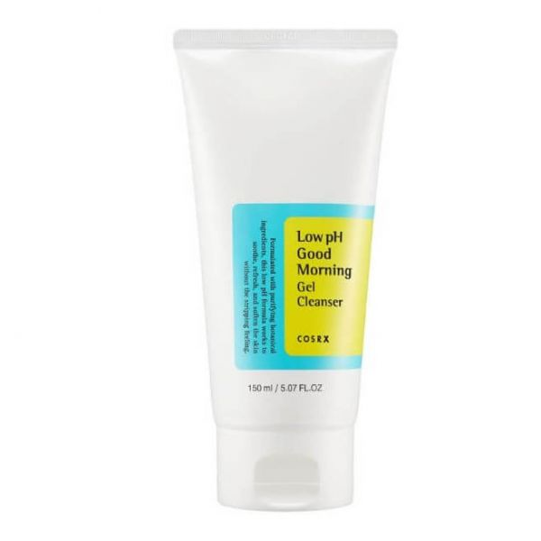 Cosrx Low pH Good Morning Gel Cleanser helps to cleanse the skin. For all skin types.