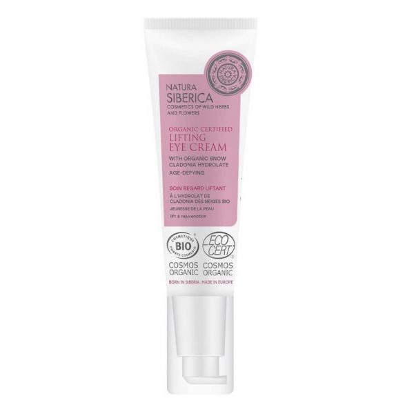 Natura Siberica age defying lifting eye cream prevents formation of fine lines and tightens the skin around the eye area.