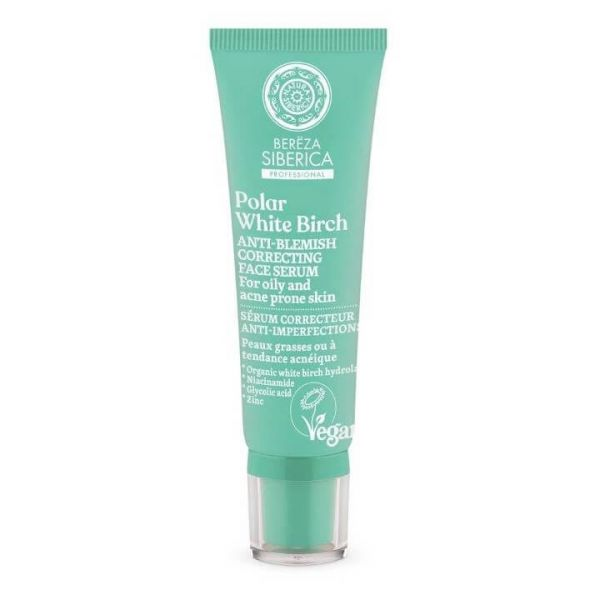 Prevent acne without drying your skin with this anti-blemish correcting face serum by Natura Siberica.