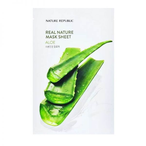 Soothe irritated, sensitive skin and keep it smooth with this aloe enriched sheet mask from Nature Republic.