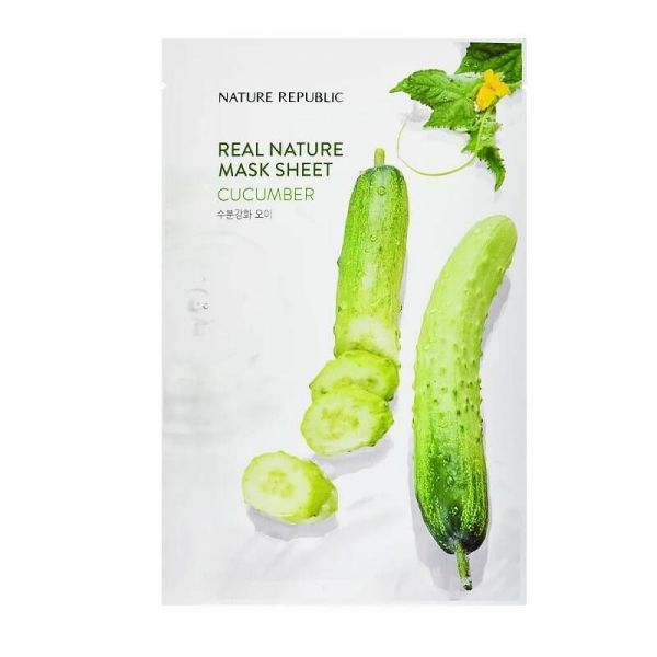 This cucumber enriched sheet mask from Nature Republic keeps skin moisturised and soft all day long.