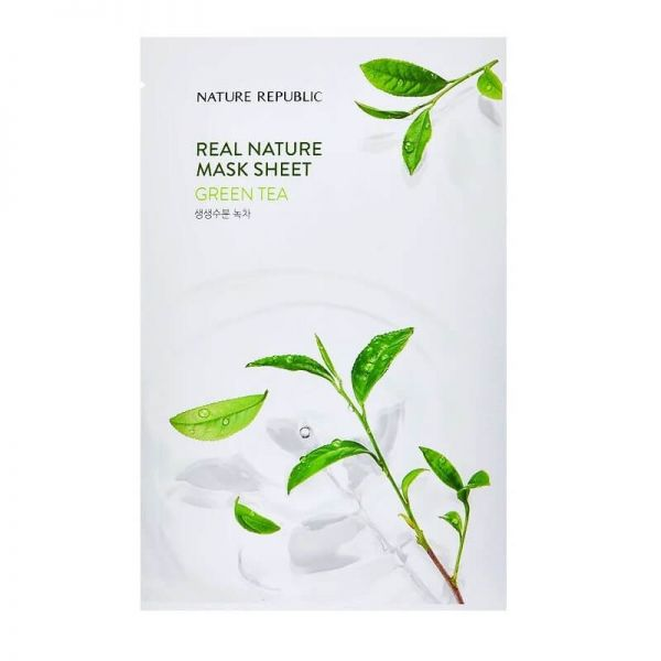 Keep your skin deeply moisturised all day long with this green tea enriched sheet mask from Nature Republic.
