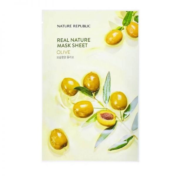 This olive enriched sheet mask from Nature Republic keeps skin nourished and improves skin's overall complexion.