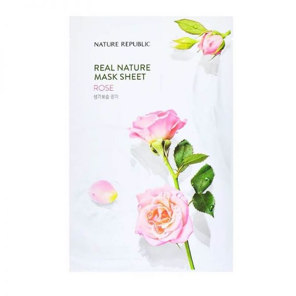 Revitalize your skin and keep it moisturised with this rose enriched sheet mask from Nature Republic.