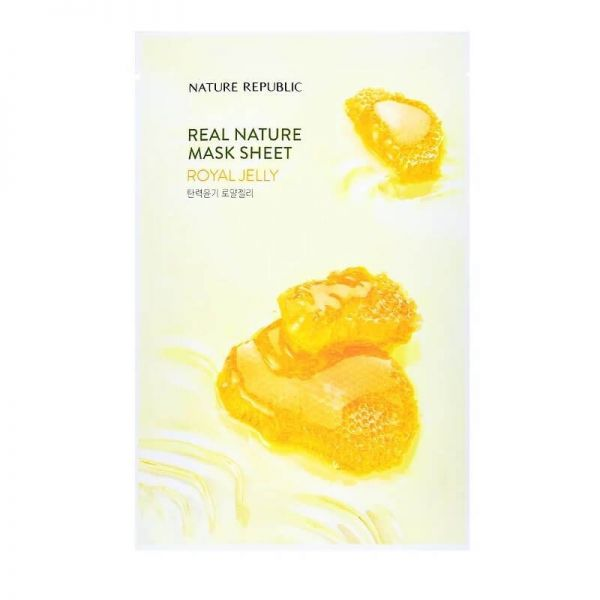 This royal jelly enriched sheet mask from Nature Republic keeps skin nourished and improves skin's overall complexion.