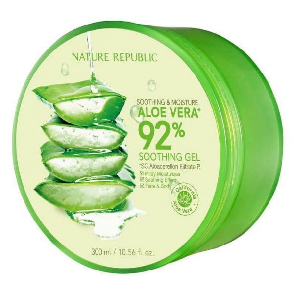 This Nature Republic Aloe Vera Soothing Gel can be used all over the body as a gel to deeply moisture and hydrate skin.