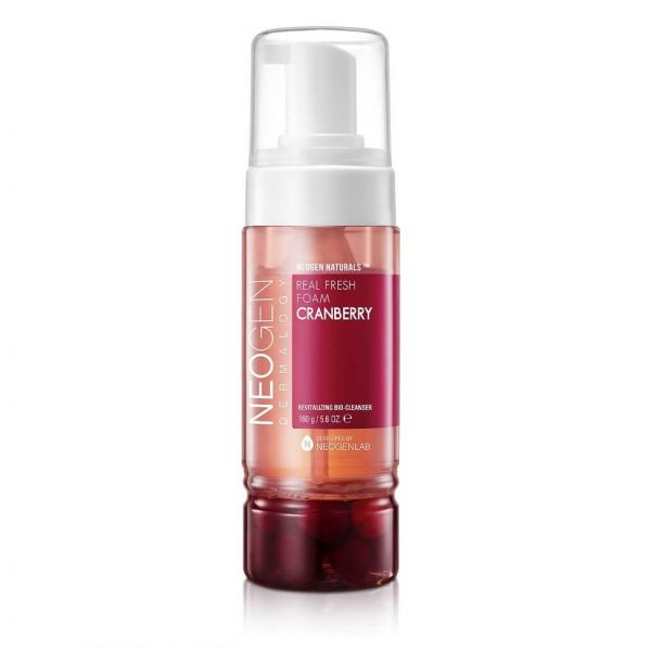 Easily remove make up, dirt and sweat with Neogen real fresh foam cranberry cleanser.
