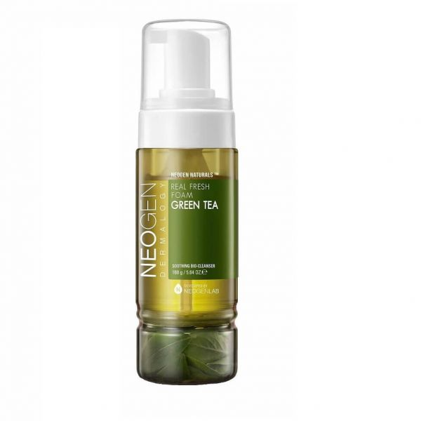 Easily remove make up and impurities with Neogen real fresh foam green tea cleanser.