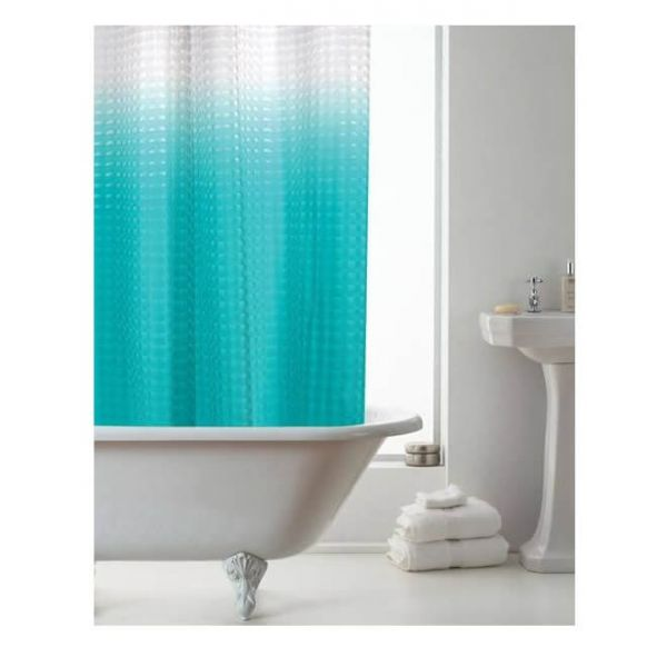 Brighten your bathroom and add some style with our blue Ombre 3D shower curtain.