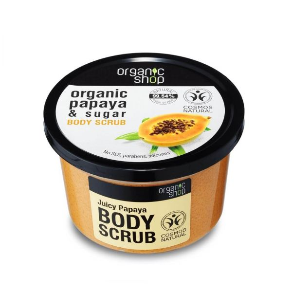 This Papaya body scrub by Organic Shop helps to revitalize and cleanse skin.