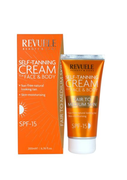 This self-tanning cream for face and body is ideal for fair to medium skin.