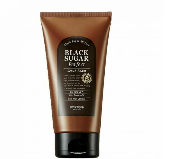 This SkinFood Black Sugar Perfect Scrub Foam helps to remove makeup easily and cleanse skin.