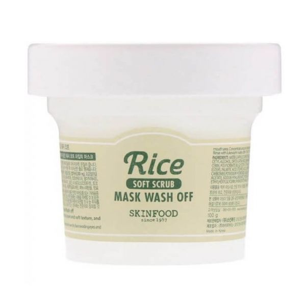 This Skinfood rice mask is a wash off containing rice bran water and rice extracts. It makes the skin soft and supple.
