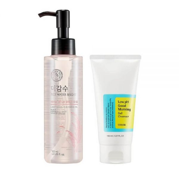 Remove all the day's impurities and rebalance your skin to a natural pH level with this combo from The Face Shop and Cosrx.