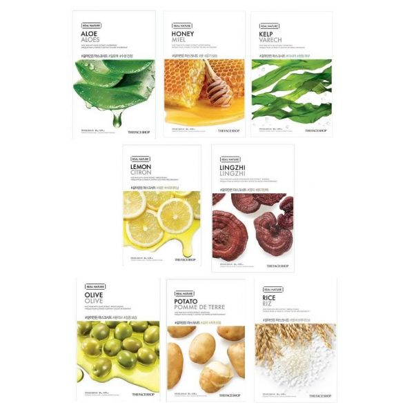 Address all your skin care concerns with this 8 pack Korean sheet mask set from The Face Shop.