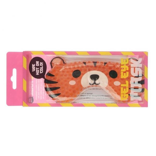 Perfect gel eye mask in a Tiger design to rejuvenate those tired puffy eyes after a long day.