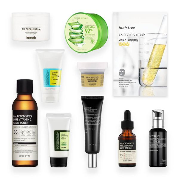 This 10 step Korean skincare routine set is perfect if you have normal skin. Keeps skin healthy, radiant and youthful.