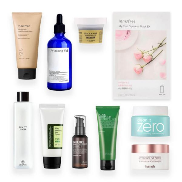 This 10 step Korean skincare routine set is perfect if you have oily skin. Gets rid of excess oil, sebum and dirt.