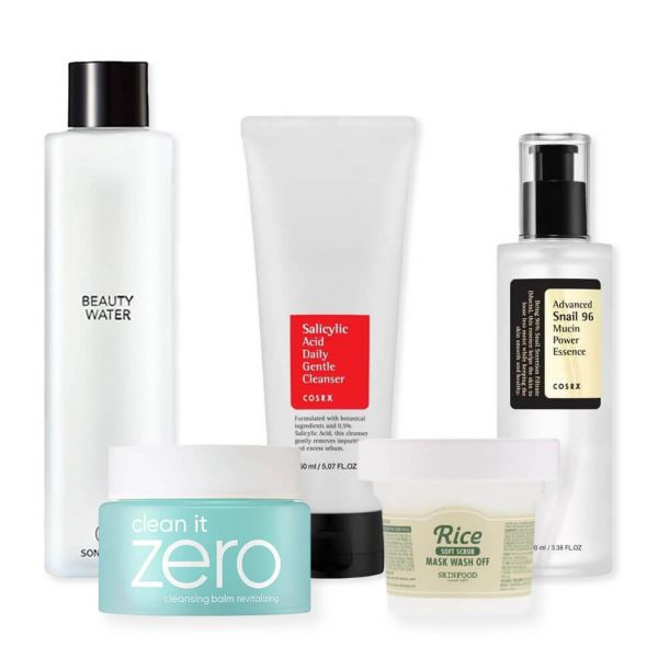 This 10 step Korean skincare routine set is perfect for those with combination skin type.