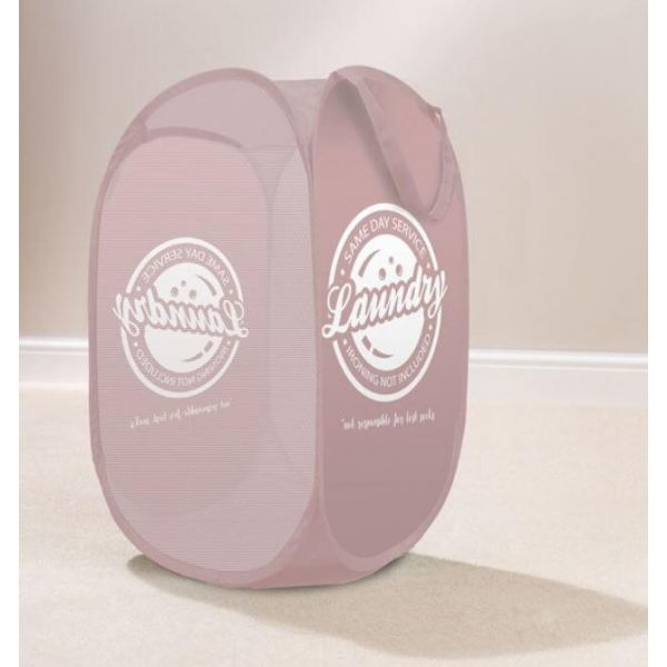 Tidy dirty clothes in style with this attractive pop up laundry basket. Comes in a lovely blush colour.