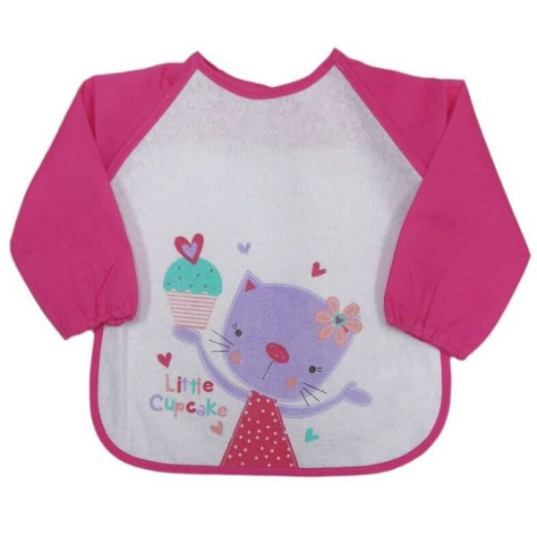 Cat Long sleeve bib for babies and toddlers that keeps your little one clean during mealtimes.