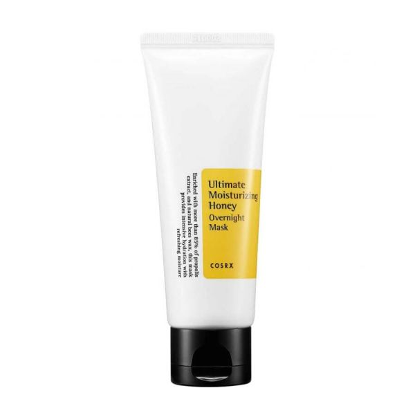 This Cosrx Ultimate Moisturizing Honey Overnight Mask moisturises the skin and provides intensive hydration whilst you sleep.